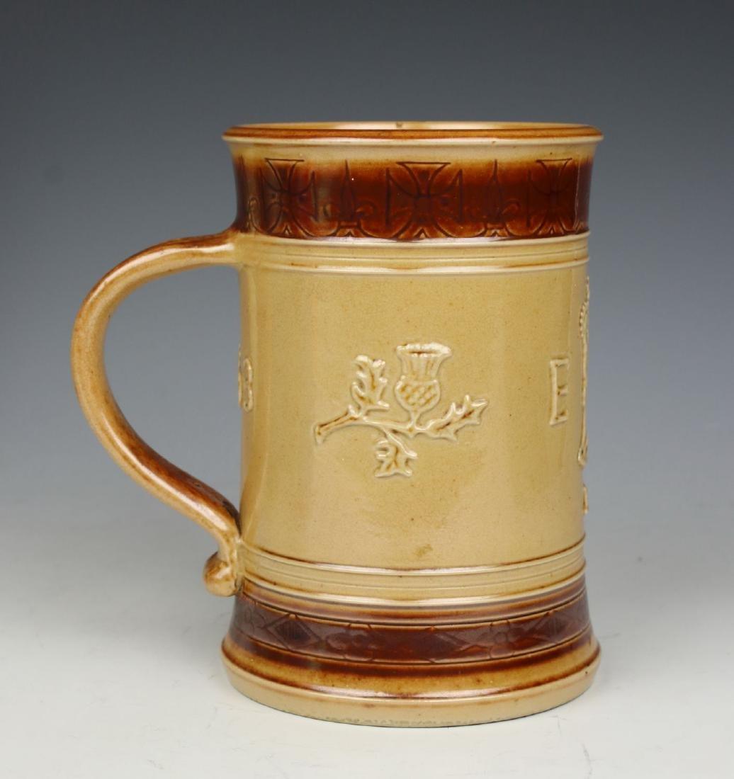 """Doulton Lambeth Stoneware Mug """"Coronation of Elizabeth"""