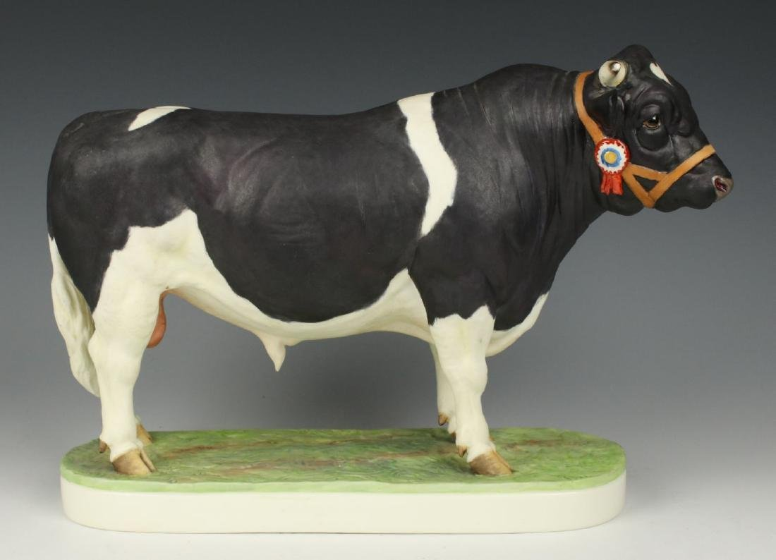 "Royal Worcester Figurine ""British Friesian Bull"""