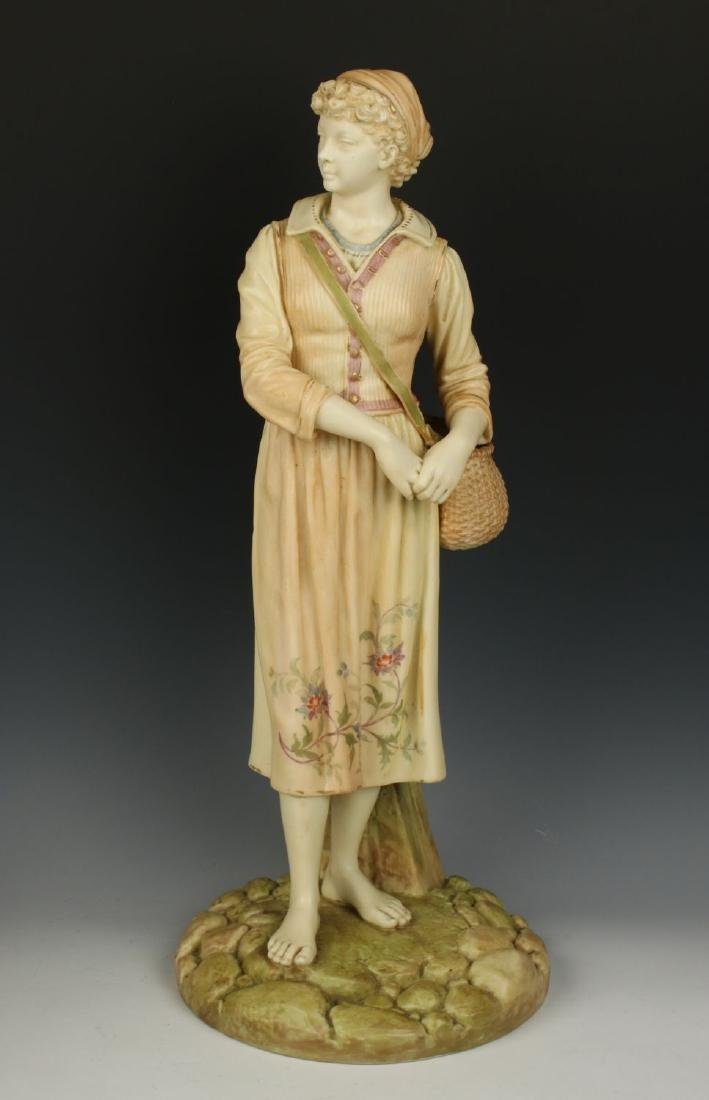 "Royal Worcester Hadley figurine ""French Fisherwoman"""