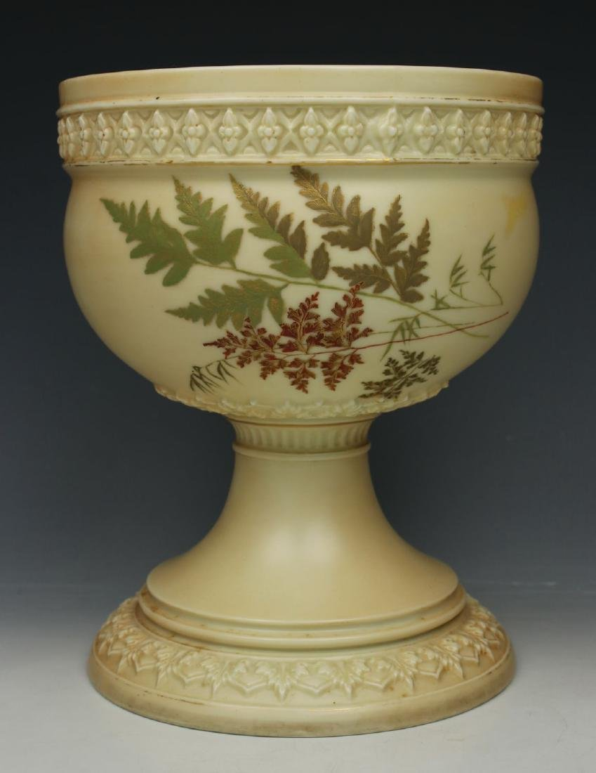 19C Royal Worcester 1390 Vase Bowl