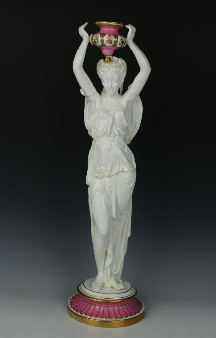 "Antique large 21"" Thomas Goode figurine ""Woman with"