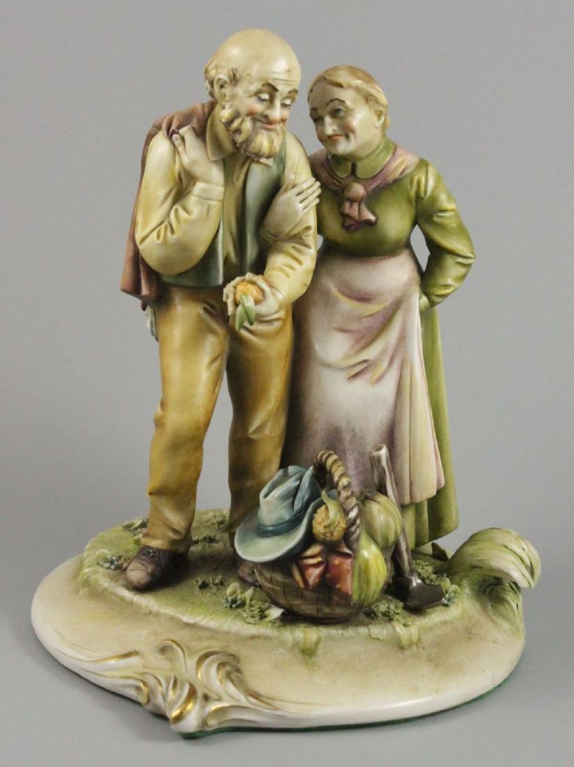 "Capodimonte Antonio Borsato Figurine ""Octogenarians"""