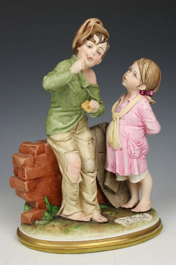 """Capodimonte Bruno Merli Figurine """"Bubble Gum"""""""