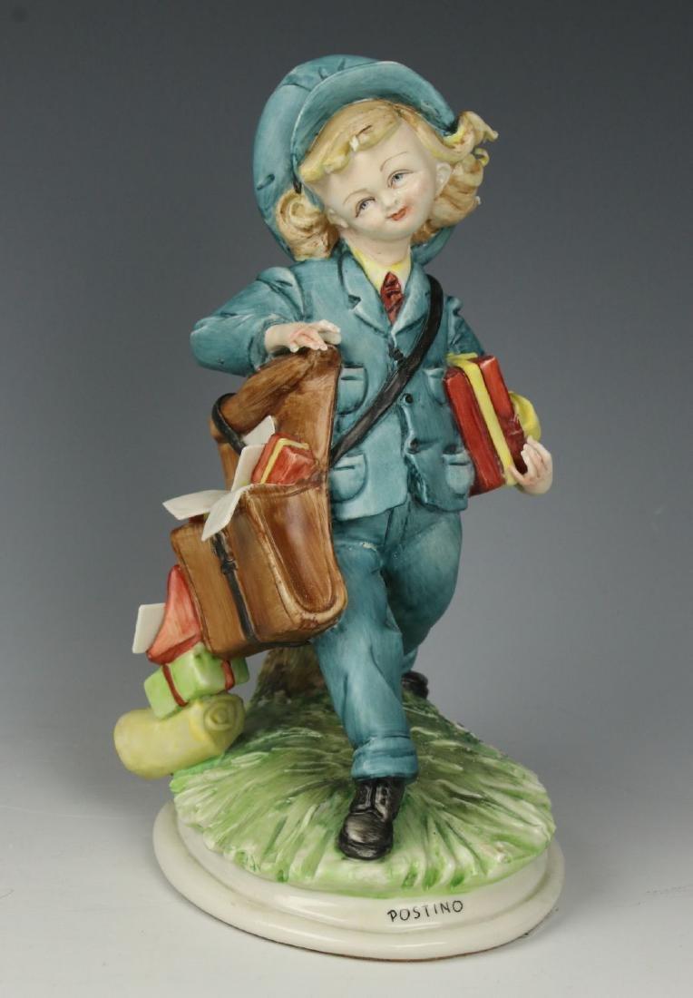 """Capodimonte Tiziano Galli Figurine """"Postman"""""""
