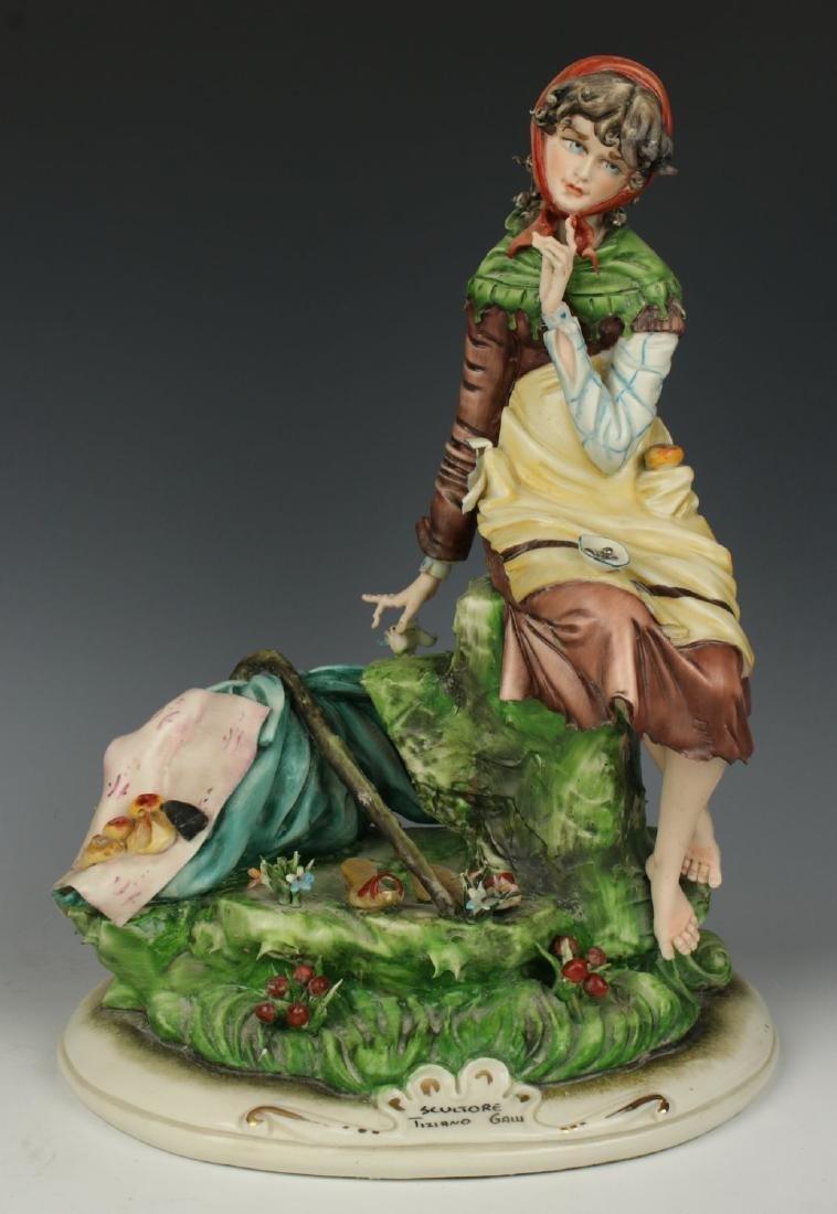 """Capodimonte Tiziano Galli Figurine """"Mendicante"""""""