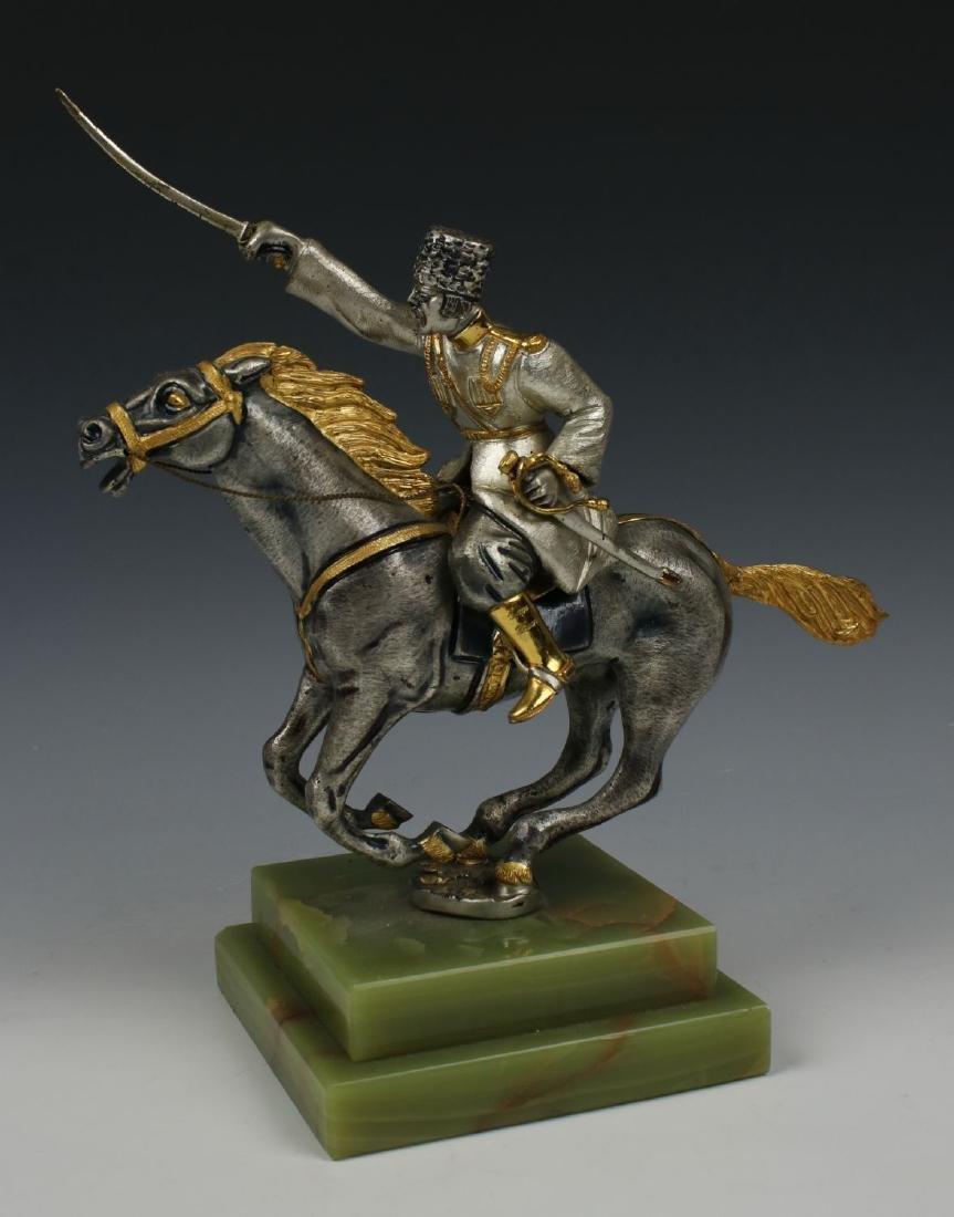 Giuseppe Vasari Bronze & 22K Gold figurine - 2