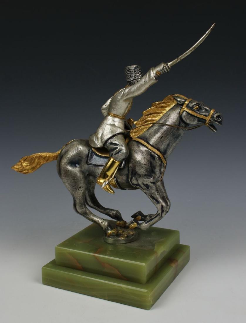 Giuseppe Vasari Bronze & 22K Gold figurine - 3