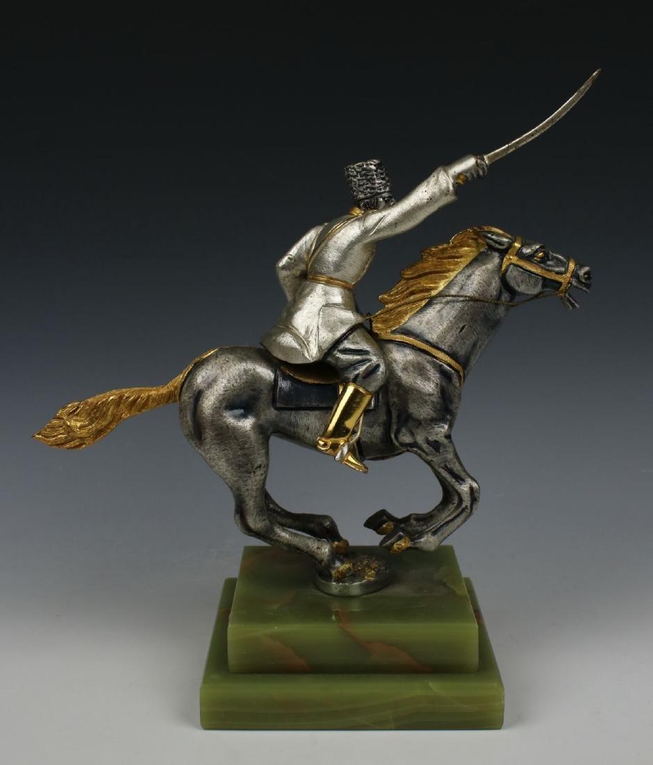 Giuseppe Vasari Bronze & 22K Gold figurine - 4