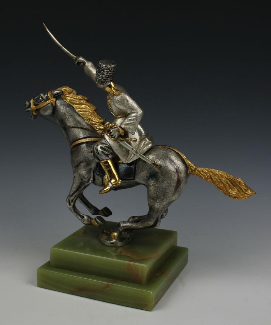 Giuseppe Vasari Bronze & 22K Gold figurine - 6