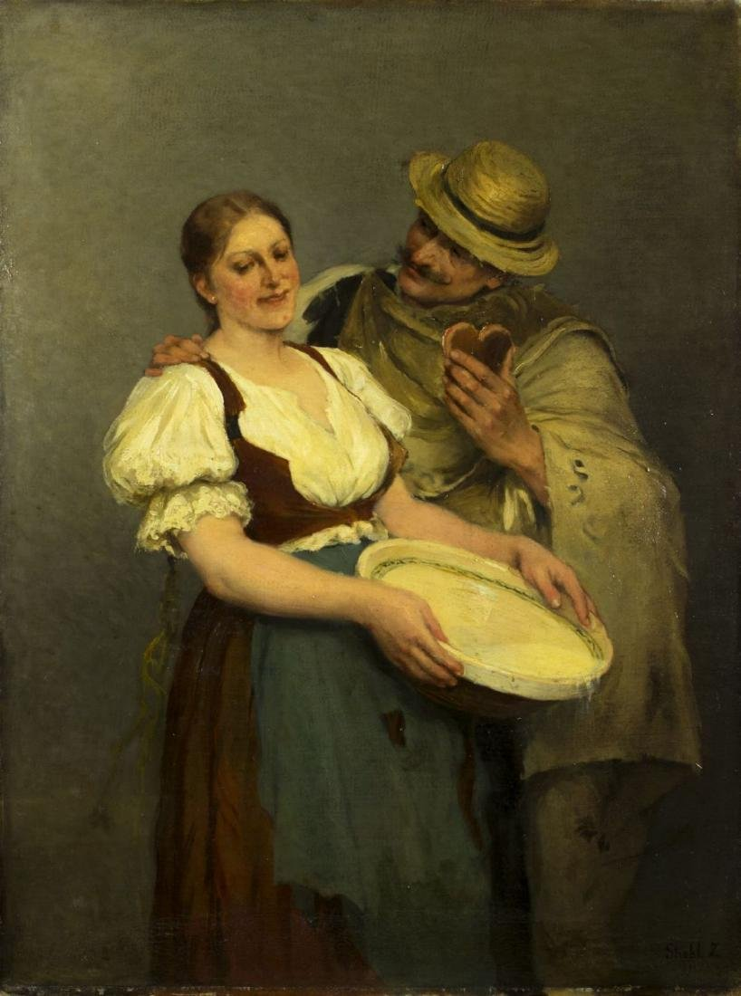 Zsofia Strobl (Hungary,born 1866) oil on canvas