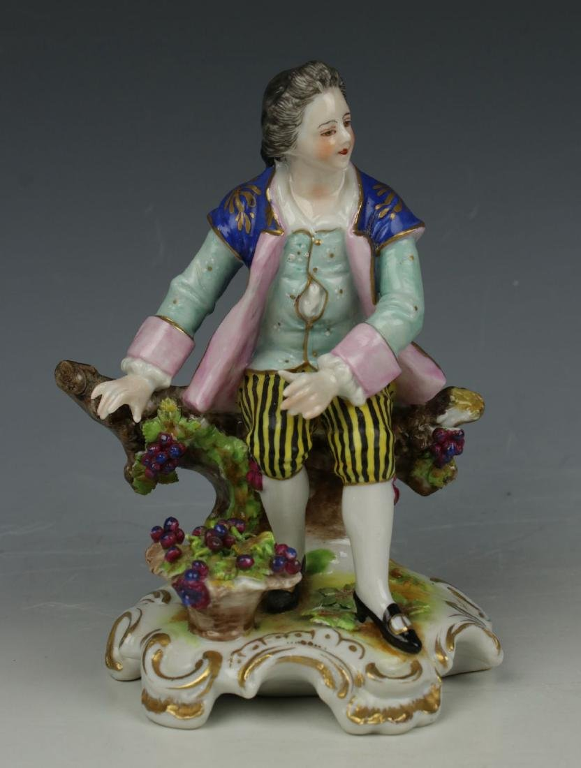 """Dresden Volkstedt figurine """"Sitting Man with Grapes"""" - 2"""