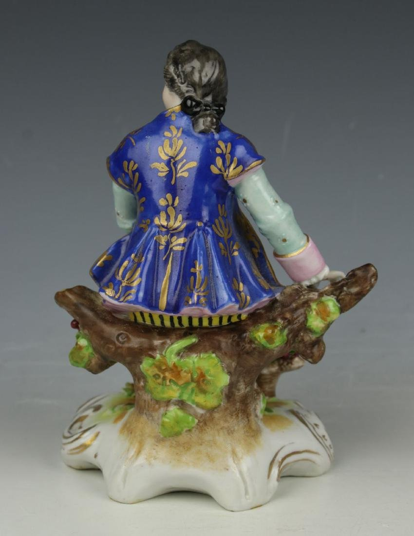 """Dresden Volkstedt figurine """"Sitting Man with Grapes"""" - 3"""