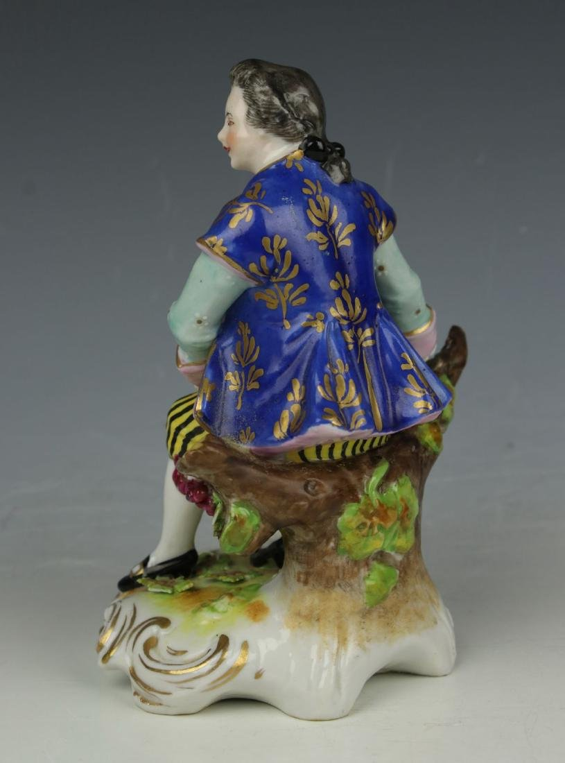 """Dresden Volkstedt figurine """"Sitting Man with Grapes"""" - 4"""