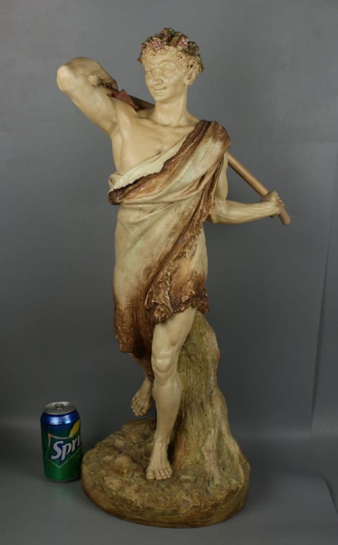 "29"" 19C Royal Worcester Hadley figurine ""Satyr with - 10"
