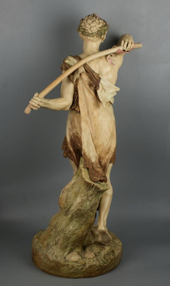 "29"" 19C Royal Worcester Hadley figurine ""Satyr with - 4"