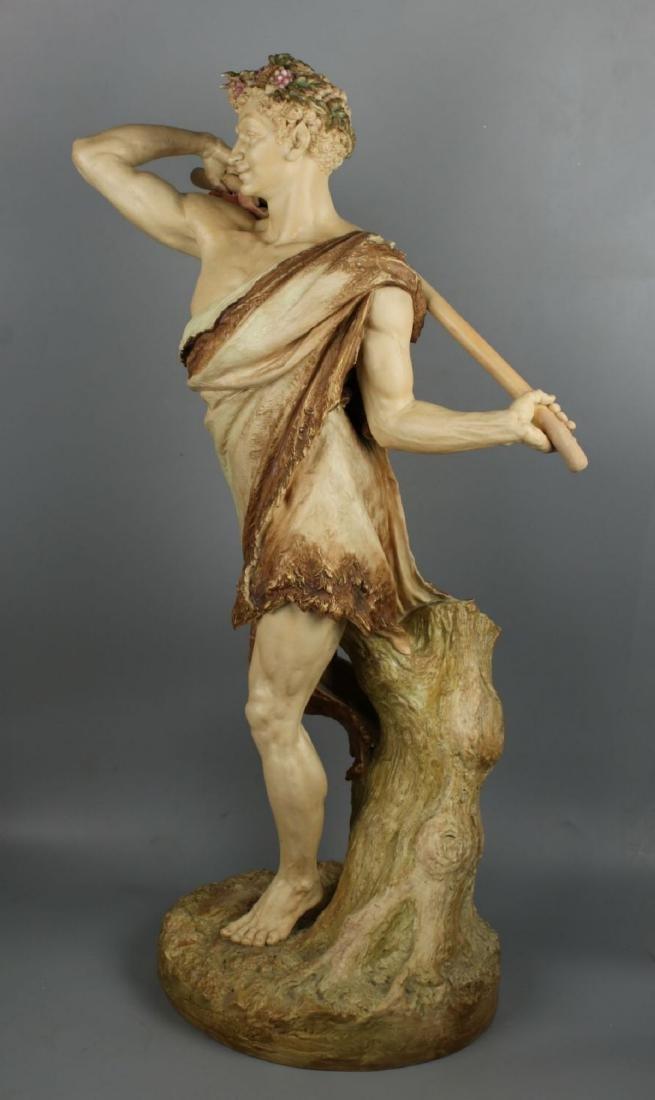"29"" 19C Royal Worcester Hadley figurine ""Satyr with - 5"