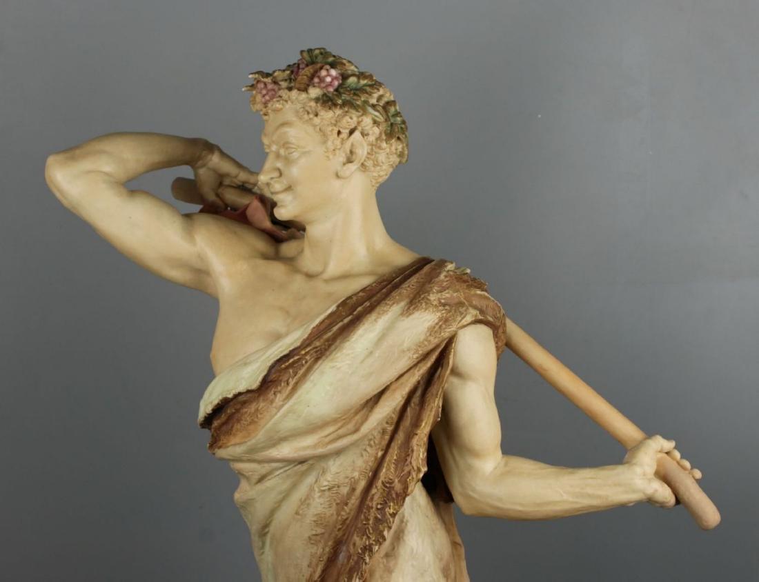 "29"" 19C Royal Worcester Hadley figurine ""Satyr with - 6"