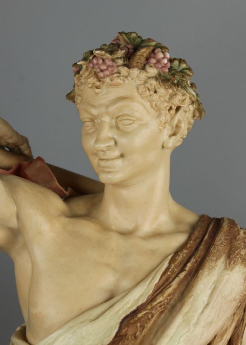 "29"" 19C Royal Worcester Hadley figurine ""Satyr with - 8"