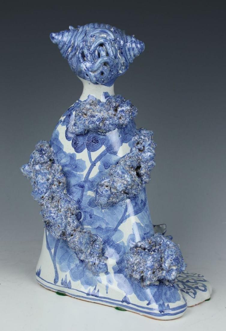 """Bjorn Wiinblad figurine """"Aunt Ella with Peacock"""" - 3"""