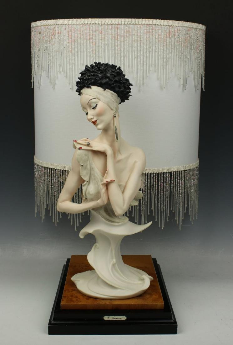 "Giuseppe Armani Figurine Lamp ""Fascination"""