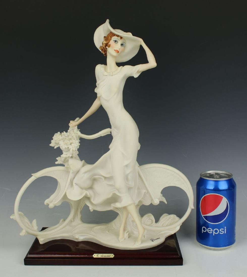"Giuseppe Armani Figurine Spring ""Lady on Bicycle"" - 10"