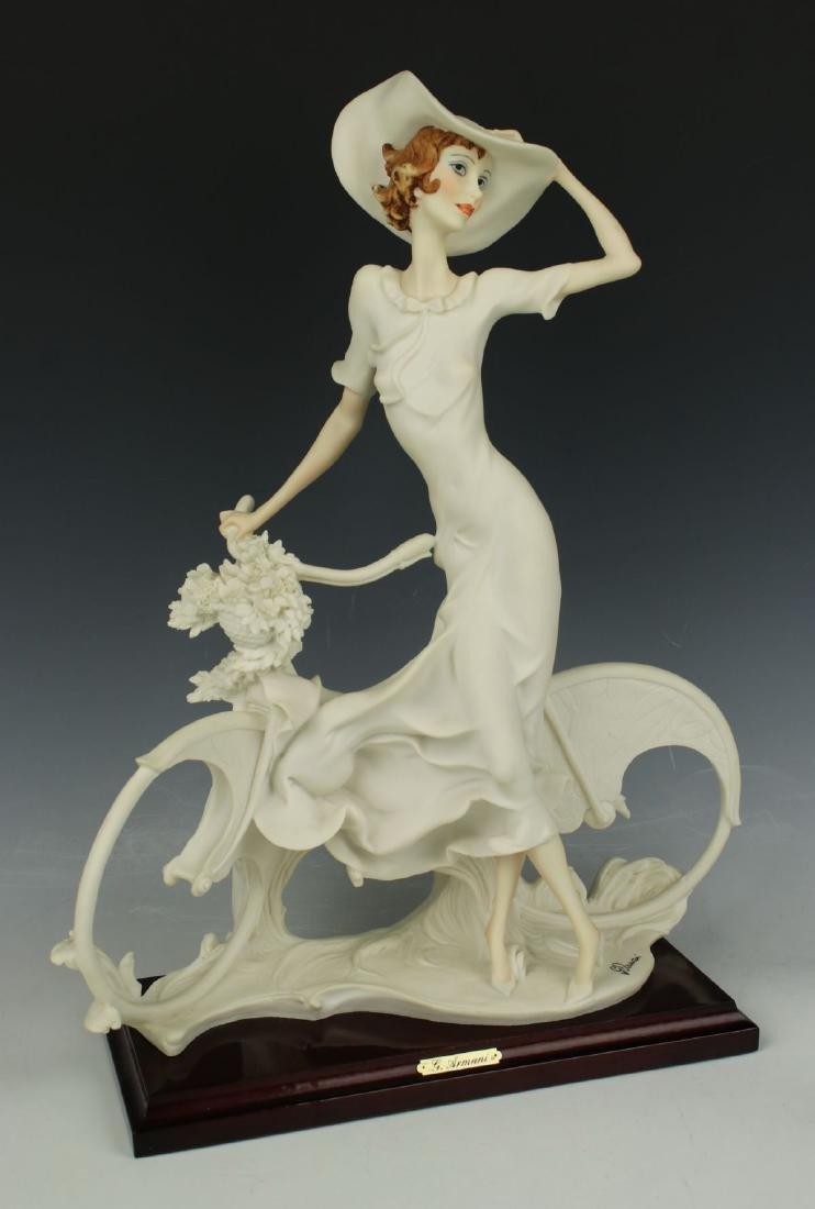 "Giuseppe Armani Figurine Spring ""Lady on Bicycle"" - 2"