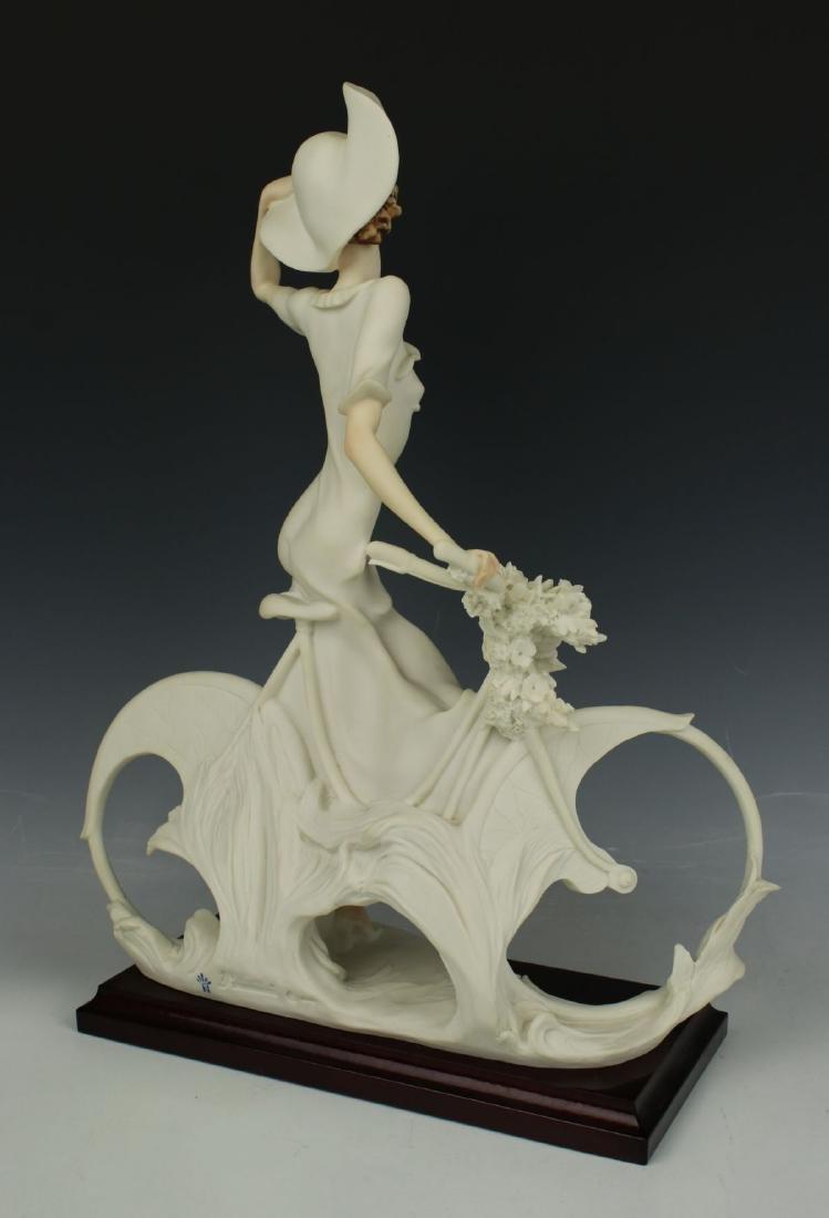 "Giuseppe Armani Figurine Spring ""Lady on Bicycle"" - 3"