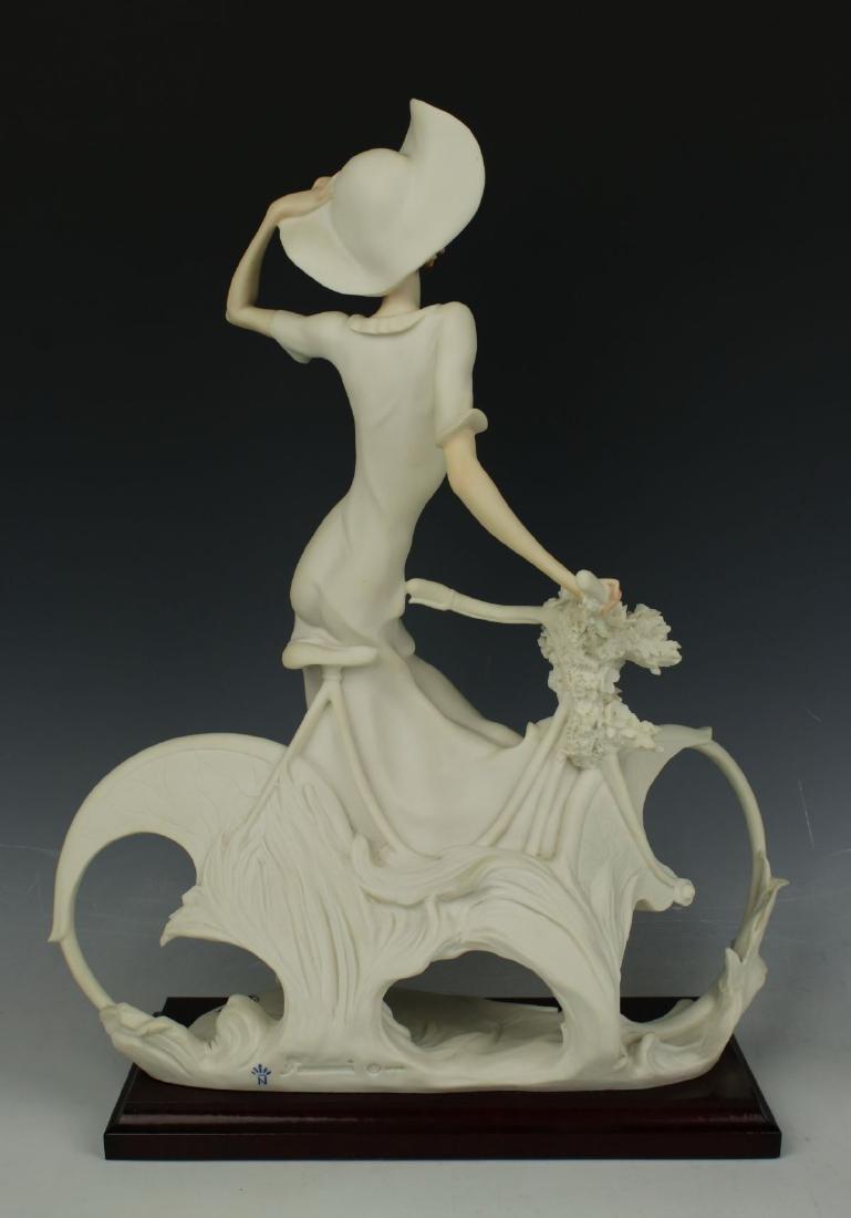 "Giuseppe Armani Figurine Spring ""Lady on Bicycle"" - 4"
