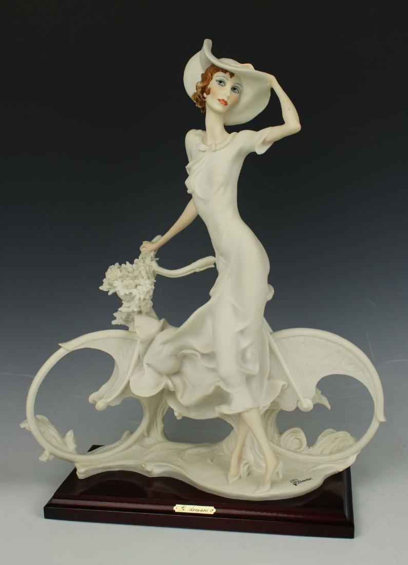 "Giuseppe Armani Figurine Spring ""Lady on Bicycle"" - 5"