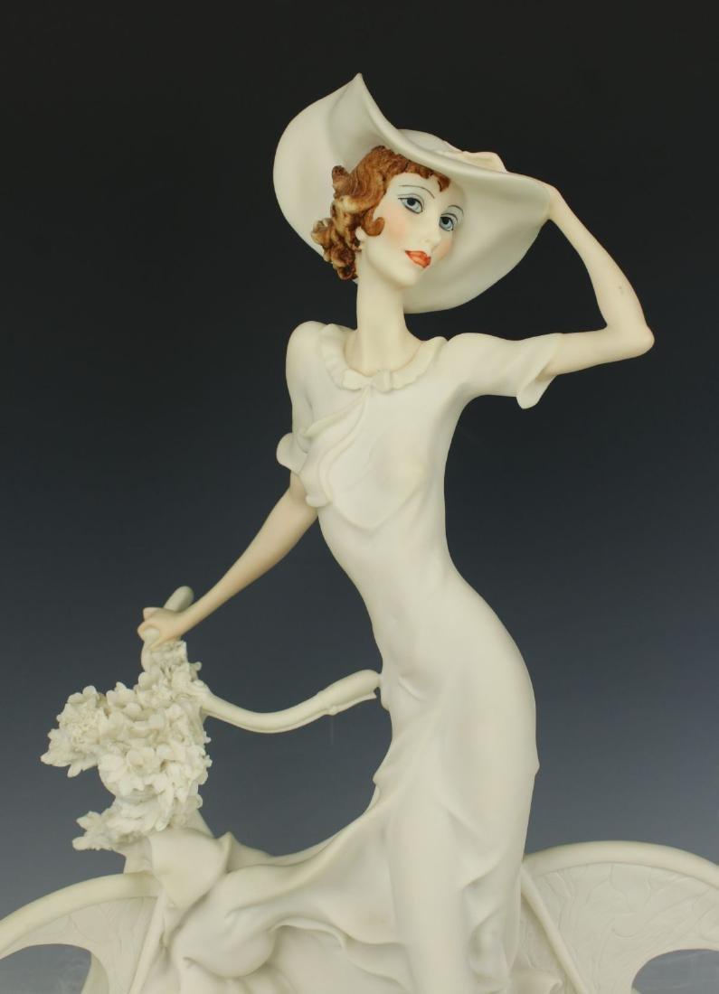 "Giuseppe Armani Figurine Spring ""Lady on Bicycle"" - 6"