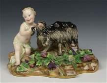 Meissen Kaendler figurine Faun with Goat