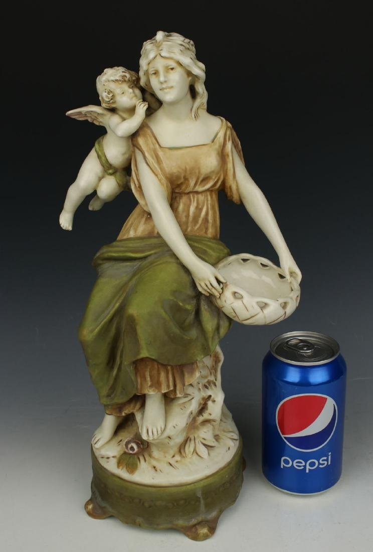"""Royal Dux figurine """"Woman with Cupid"""" - 10"""