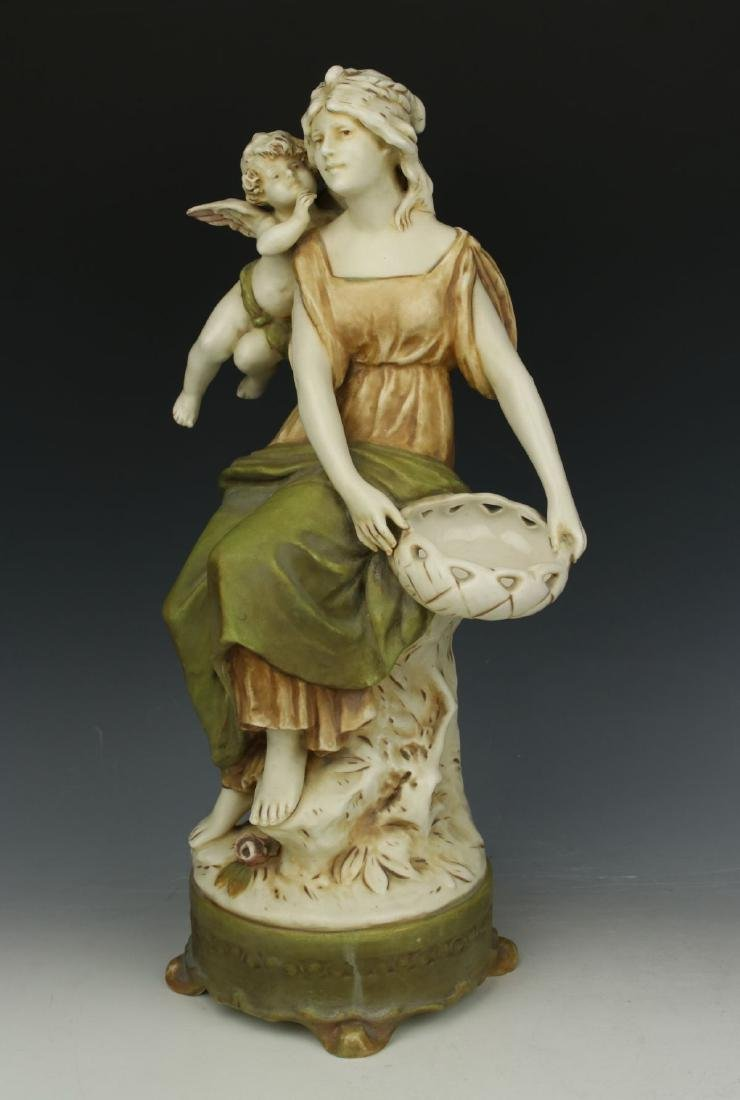 """Royal Dux figurine """"Woman with Cupid"""" - 2"""