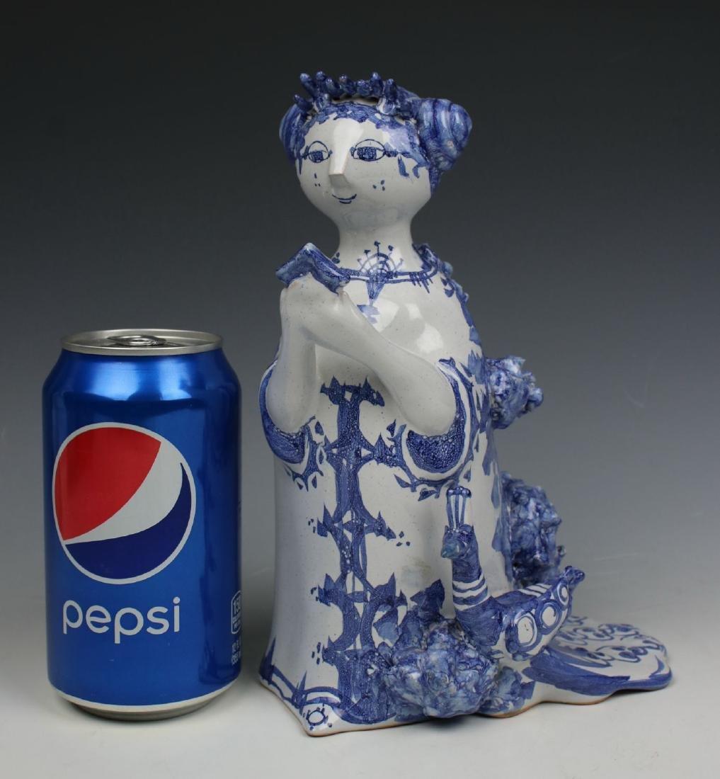 "Bjorn Wiinblad figurine ""Aunt Ella with Mirror and - 10"