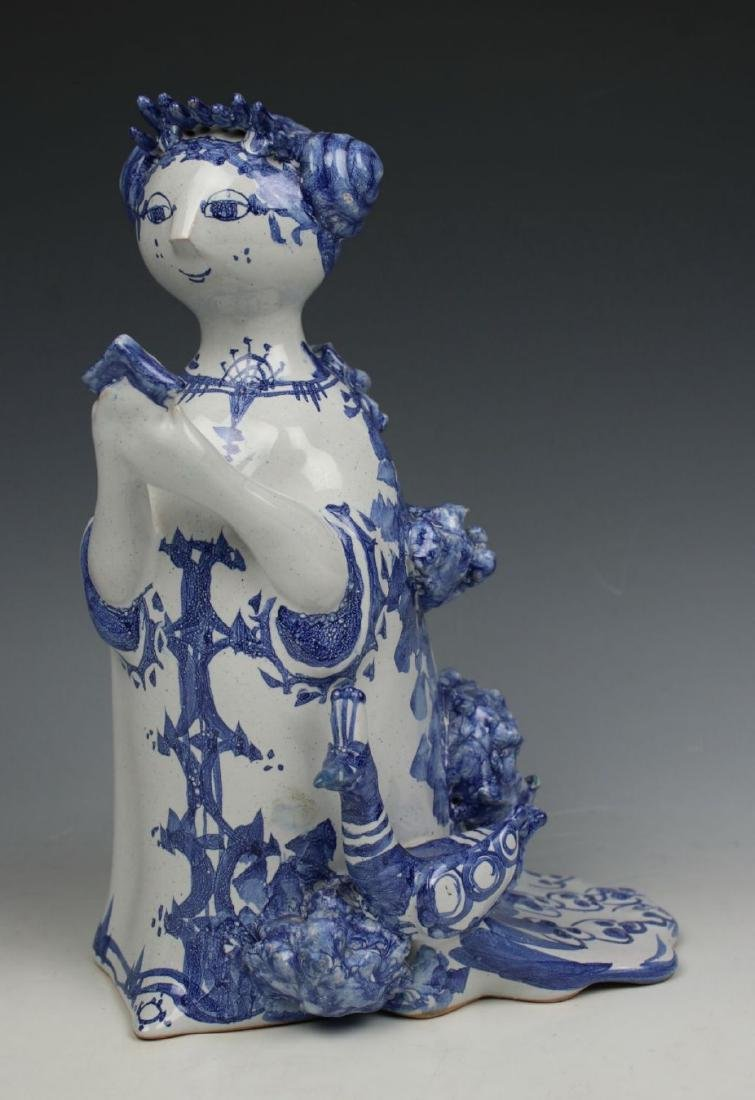 "Bjorn Wiinblad figurine ""Aunt Ella with Mirror and"