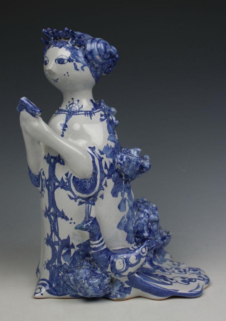 "Bjorn Wiinblad figurine ""Aunt Ella with Mirror and - 2"