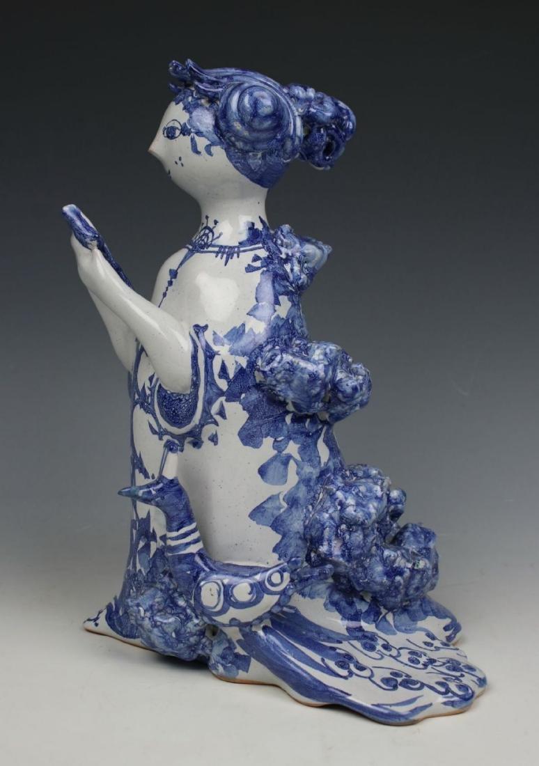 "Bjorn Wiinblad figurine ""Aunt Ella with Mirror and - 3"