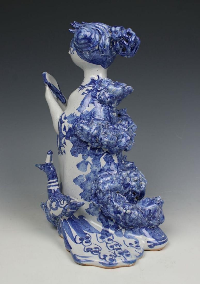 "Bjorn Wiinblad figurine ""Aunt Ella with Mirror and - 4"