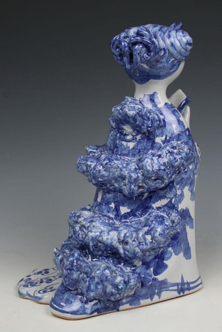 "Bjorn Wiinblad figurine ""Aunt Ella with Mirror and - 5"