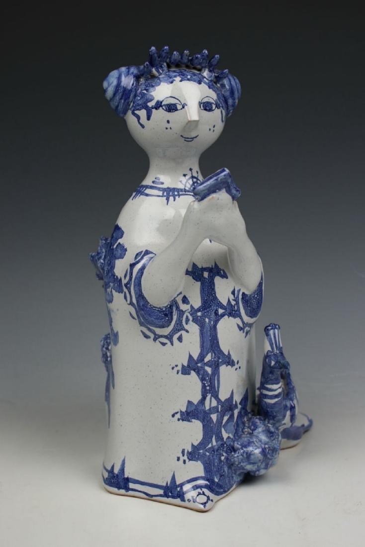 "Bjorn Wiinblad figurine ""Aunt Ella with Mirror and - 6"