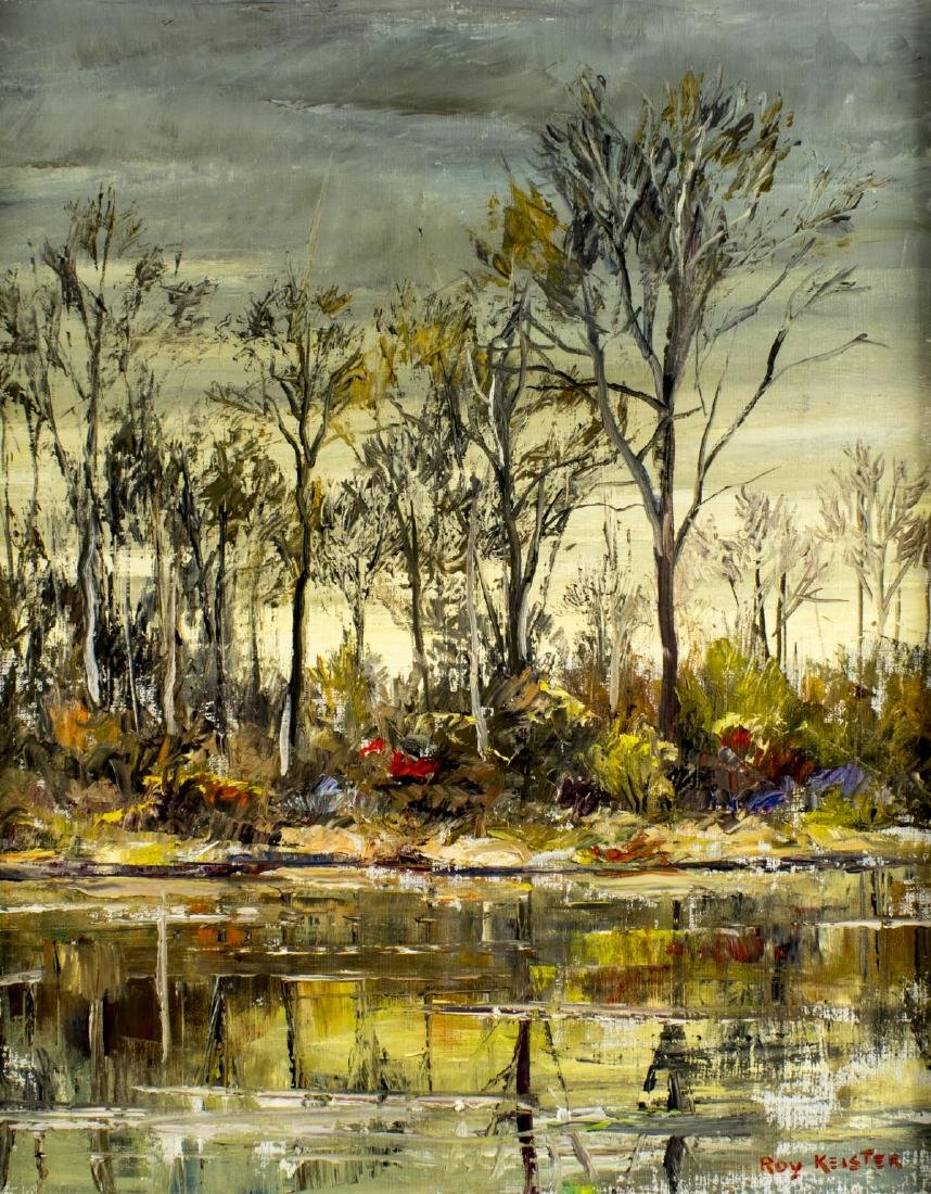 Roy Chester Keister (IL,OH,TX,CA,1886-1983) oil - 3