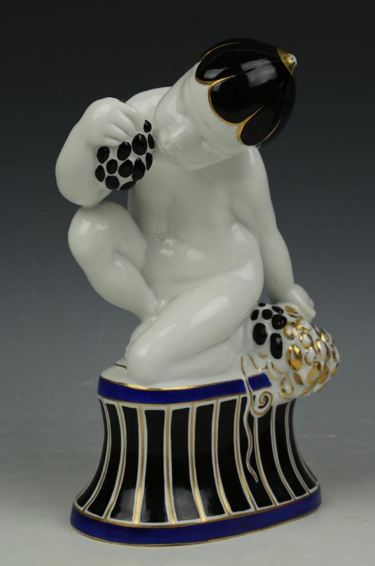 "Fraureuth art deco figurine ""Boy Eating Grapes"""