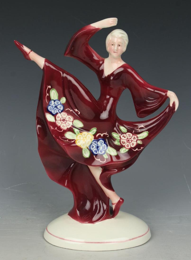 "Katzhutte art deco figurine 1233 ""Dancing Lady"""