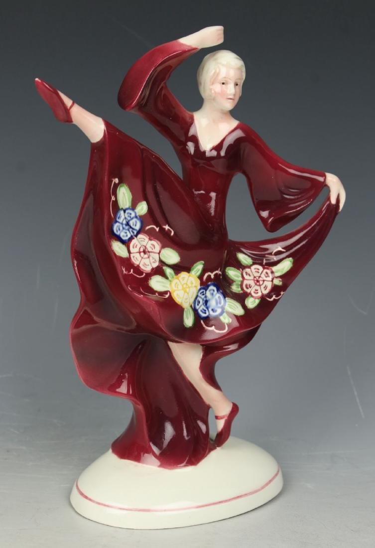 "Katzhutte art deco figurine 1233 ""Dancing Lady"" - 2"