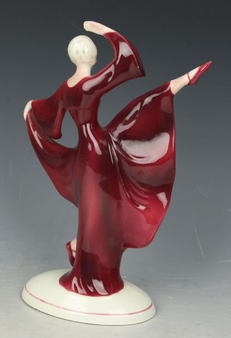 "Katzhutte art deco figurine 1233 ""Dancing Lady"" - 3"