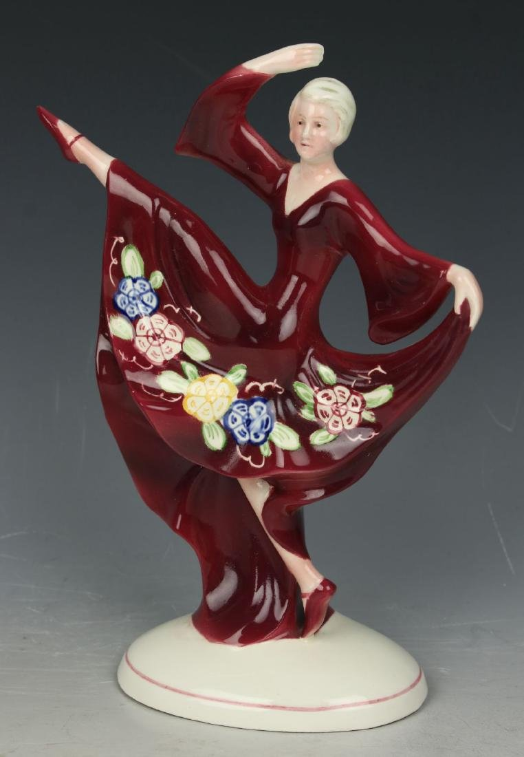 "Katzhutte art deco figurine 1233 ""Dancing Lady"" - 5"