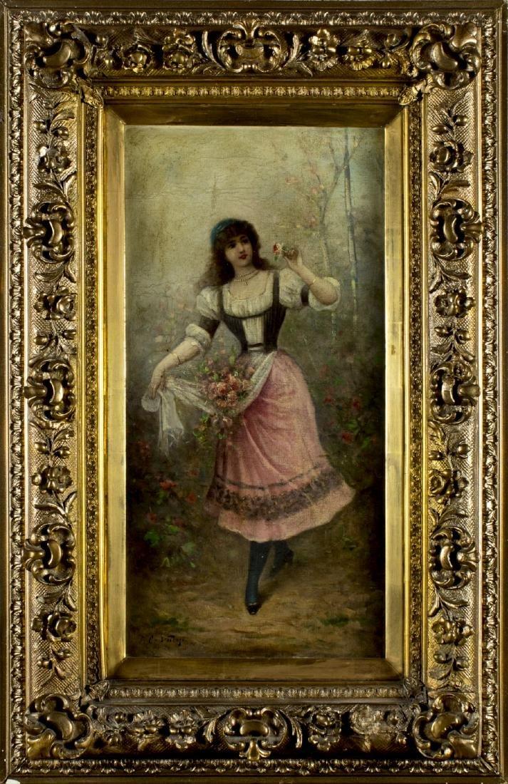 Carlo Valensi (Italy,19/20C) oil painting antique