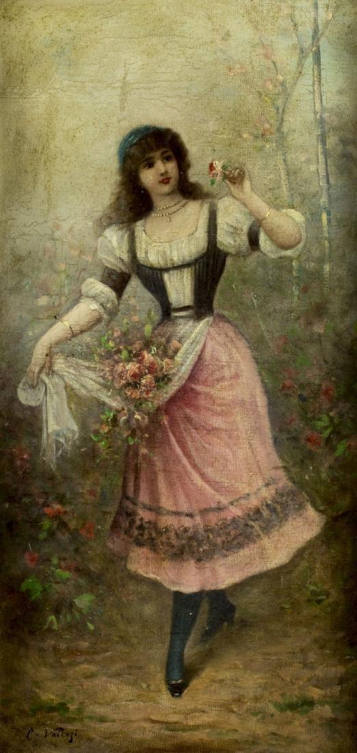 Carlo Valensi (Italy,19/20C) oil painting antique - 3