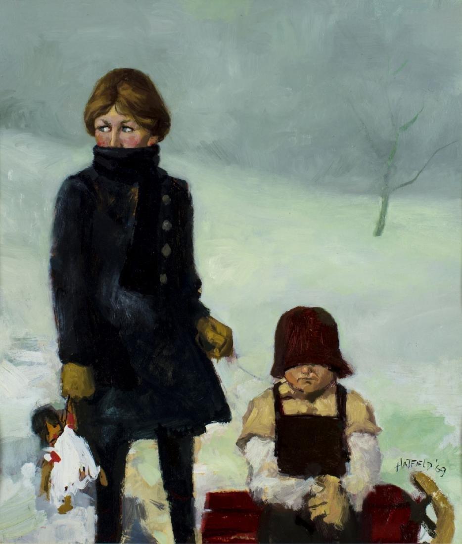 David Hatfield (NY,NJ,born 1940) oil painting