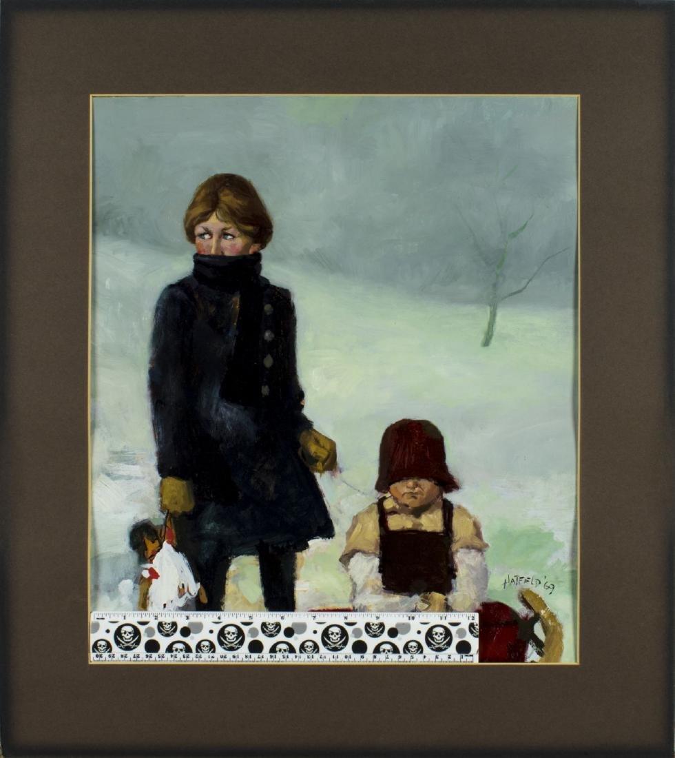 David Hatfield (NY,NJ,born 1940) oil painting - 2